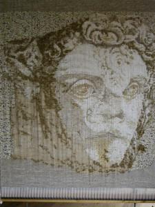 Faune - 90x85 - tapisserie haute lice
