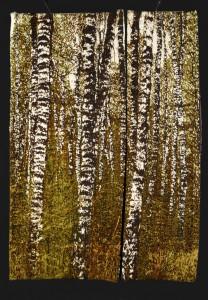 Bois de bouleaux - 180x80 - tapisserie haute lice