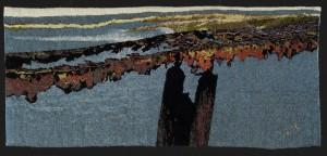 Rouille sur un pont - 170x80 - tapisserie haute lice