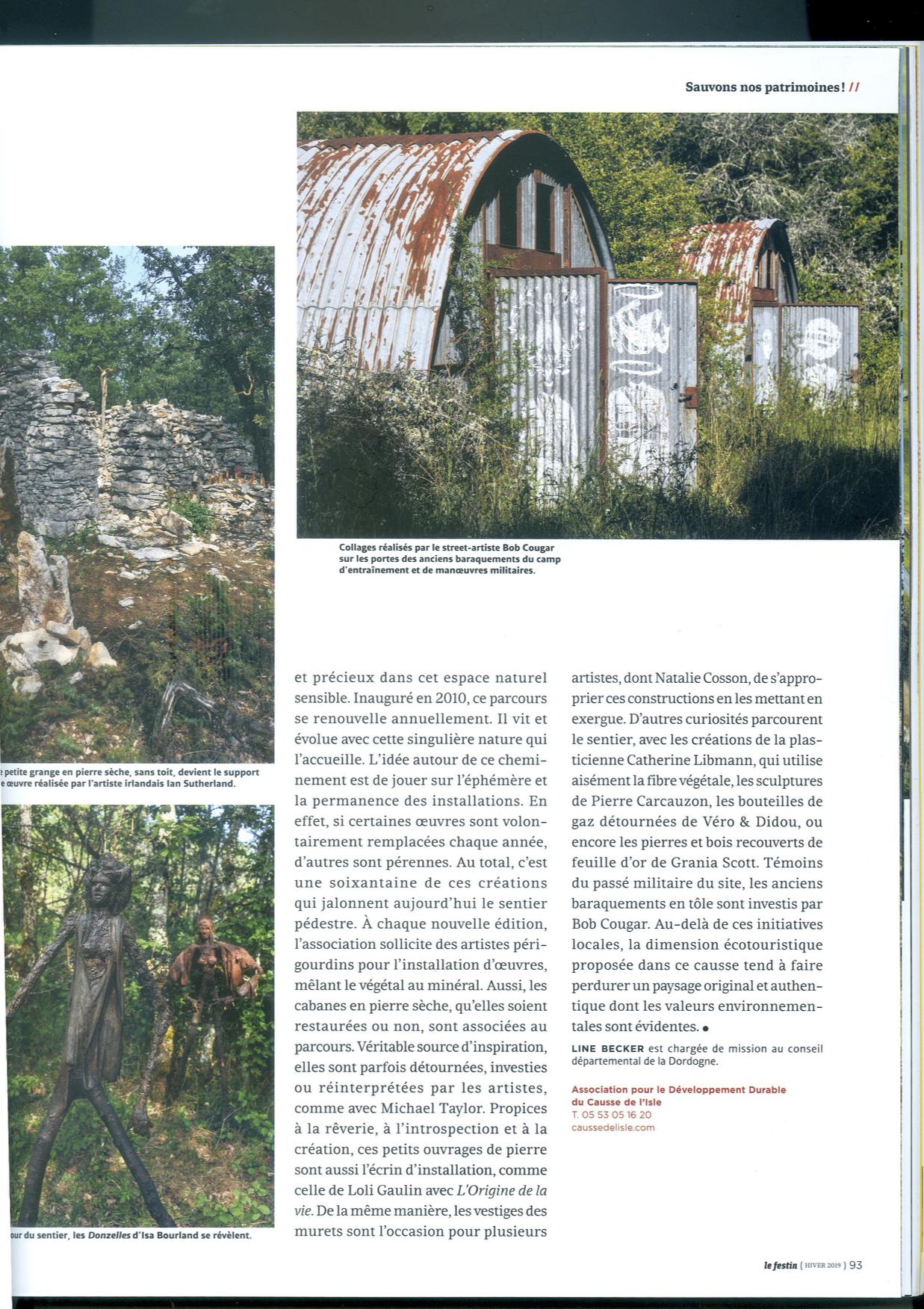 Article magazine Le festin